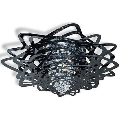 SLAMP Aurora Crystal Ceiling Light In Fume - RRP $1820.00 - Brand New