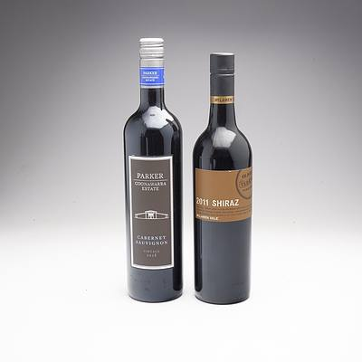 Parker Coonawarra Estate 2018 Cabernet Sauvignon and Olivers Taranga Vinyards 2011 Shiraz