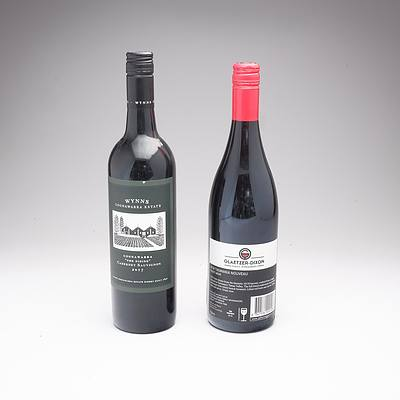 Wynns Coonawarra 'The Siding'2017 Cabernet Sauvignon and Glaetzer- Dixon 2018 Tasmanian Pinot Noir