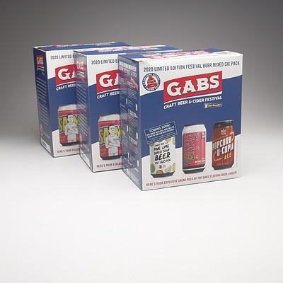 Three Mixed Gabs Craft Beer Festival Six Packs