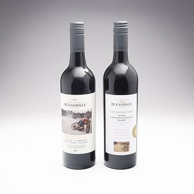 Bleasdale Broad Side 2017 and 2016 Shiraz-Cabernet- Sauvignon- Malbec, Two Bottles