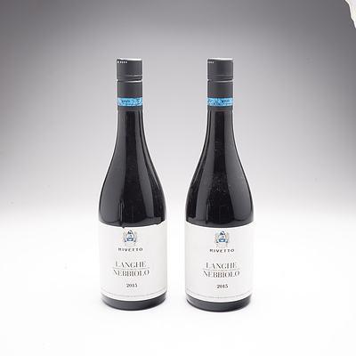 Rivetto Langhe Nebbiolo 2015, 2 x Bottles