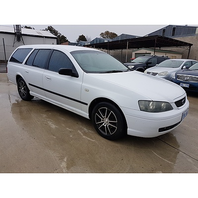 11/2003 Ford Falcon XT BA 4d Wagon White 4.0L