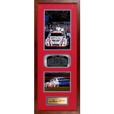 #8 Jason Richards 2009 Framed Signed Photo with Race Used Brake Pad