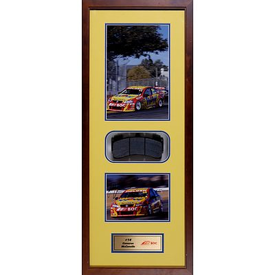 #14 Cameron McConville 2009 Framed Signed Photo with Race Used Brake Pad