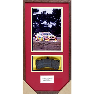 #14 Cameron McConville Framed Signed Photo with Race Used Brake Pad