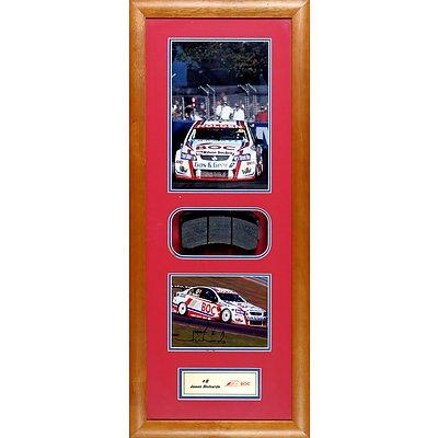 #9 Jason Richards 2009 Framed Signed Photo with Race Brake Pad