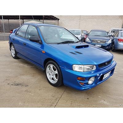 6/1999 Subaru Impreza WRX (awd) MY99 4d Sedan Blue 2.0L