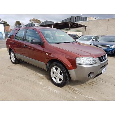 9/2004 Ford Territory TS (rwd) SX 4d Wagon Red 4.0L