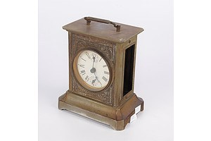 Vintage Brass Cased Carriage Style Clock