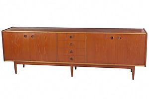 1960s Parker 'Nordic Collection' Teak Extra Long Sideboard
