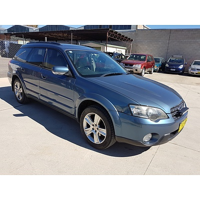 6/2004 Subaru Outback 3.0R MY05 4d Wagon Blue 3.0L