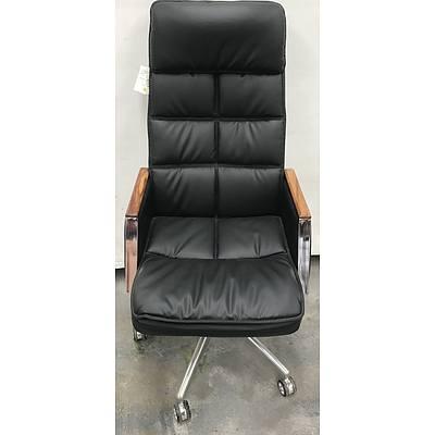 Kangyu Furniture Black Leather Executive Chair