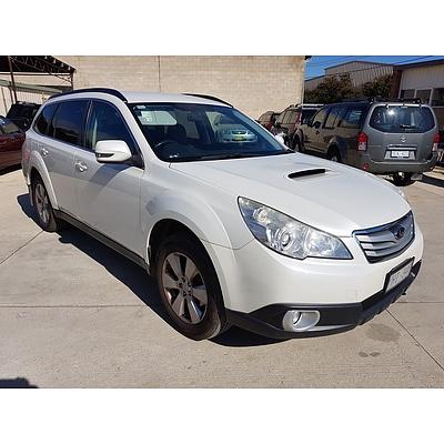 3/2011 Subaru Outback 2.0D MY11 4d Wagon White 2.0L