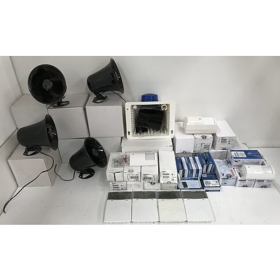 Large Lot Of Security System Components