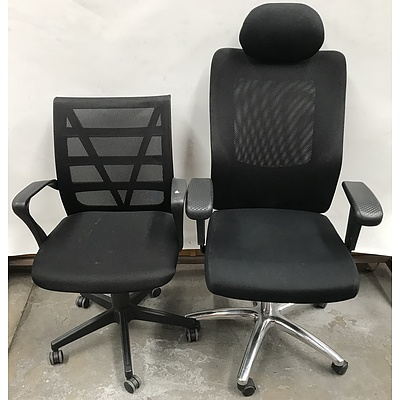 Office Chairs -Lot Of Two