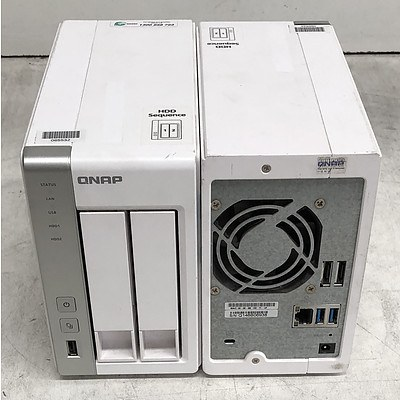 QNAP (TS-220) 2-Bay NAS Appliance - Lot of Two