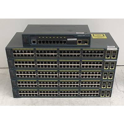 Cisco Catalyst 2960 Series Ethernet Switches - Lot of Six