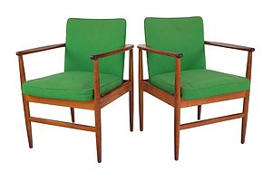 Pair of Vintage Stylecraft Armchairs Designed by Ross Cox