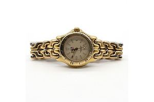 Ladies Tag Heuer Professional Quartz Date Wristwatch with Gold Plated Band, Model: S94.015