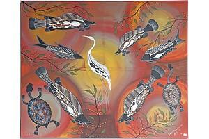 Dale Huddleston, Marine Life 2005 , Oil On Canvas