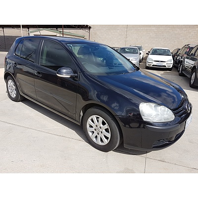 9/2007 Volkswagen Golf 2.0 FSI Comfortline 1K 5d Hatchback Black 2.0L