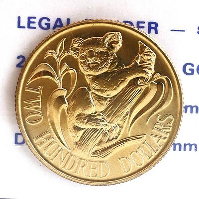 1980 Australia 22ct Gold Koala Two Hundred Dollar Proof Coin