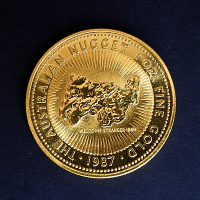 1987 The Australian Nugget 1 oz. Fine Gold Coin