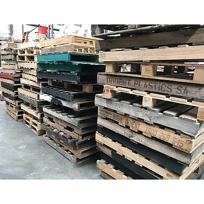 Large Lot Of Wooden Pallets -Approximately 60