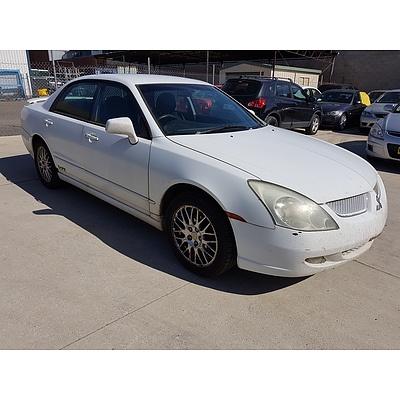9/2003 Mitsubishi Magna VR TL 4d Sedan White 3.5L