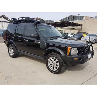 4/2009 Land Rover Discovery 3 SE MY09 4d Wagon Black 2.7L