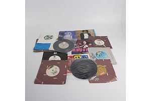 Quantity of Approximately 15 x Vinyl 7 Inch Records Including Madonna, Michael Jackson, INXS, Elton John and More