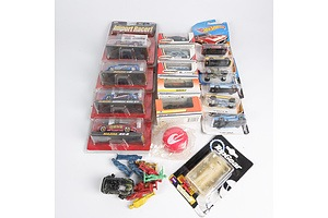 Collection of Toy Cars Including Matchbox, Jada and Hotwheels in Packets