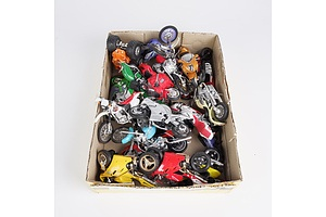 Collection of Toy Motorbikes Various Brands Including Matchbox