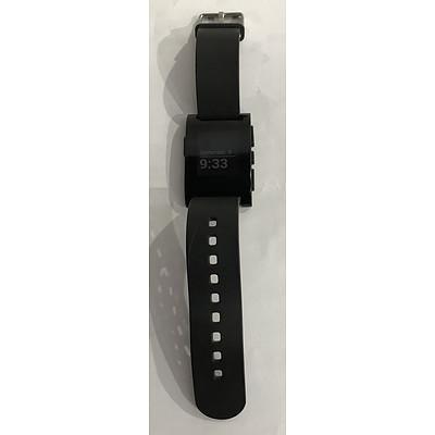 Pebble 301BL E-Paper Display Smart Watch