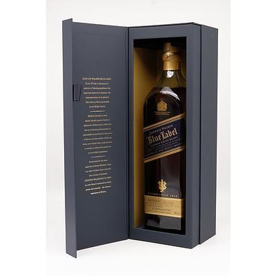 Boxed Johnnie Walker Blue Label, 1L