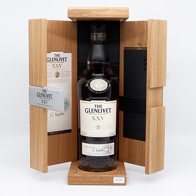 Boxed Glenlivet Single Malt Scotch Whisky, 25yrs, 700ml