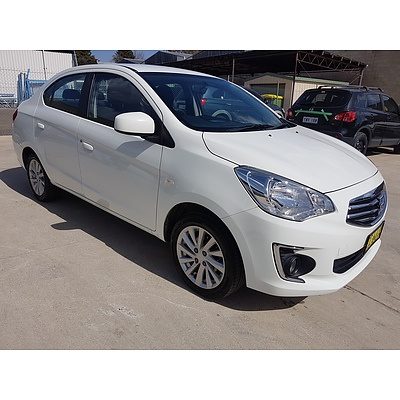1/2015 Mitsubishi Mirage ES LA 4d Sedan White 1.2L