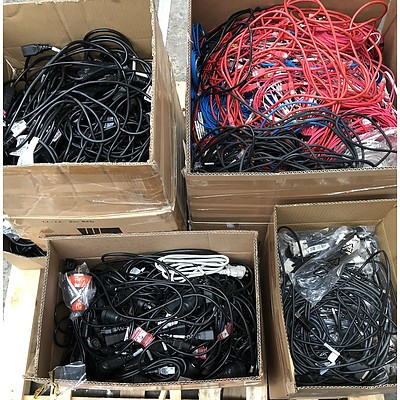 Bulk Lot of Assorted IT Cables