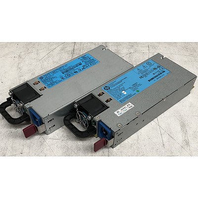 HP HSTNS-PL28 & HSTNS-PR28 460W Server Power Supply Modules - Lot of Two