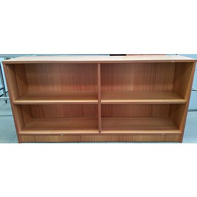 Maple Veneer Shelving Unit and Pedestal Drawer Unit