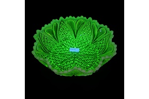 Moulded Uranium Glass Bowl, Early 20th Century