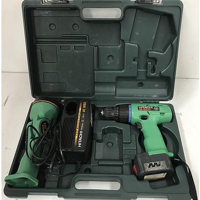 Hitachi Cordless Drill Driver Kit In Case