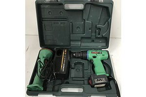 Hitachi Cordless Drill Driver Kit In Case