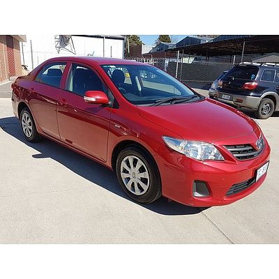 9/2011 Toyota Corolla Ascent ZRE152R MY11 4d Sedan Red 1.8L