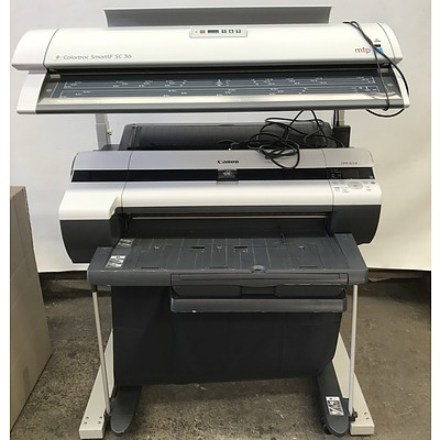 Canon iPF610 A1 Inkjet Printer with ColorTrac Smartlf SC36 Scanner