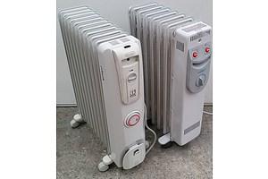 Heller 1500 Watt Column Oil Heater and Delonghi 2400 Watt Column Oil Heater