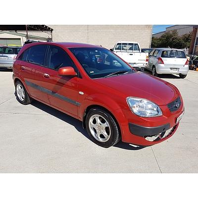 4/2008 Kia Rio LX JB 5d Hatchback Red 1.4L