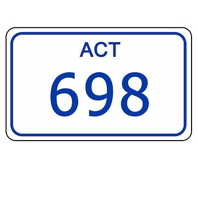 ACT Number Plate 698