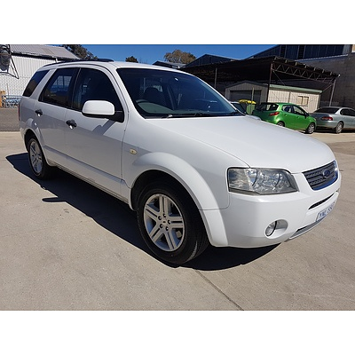 3/2007 Ford Territory GHIA (rwd) SY MY07 UPGRADE 4d Wagon White 4.0L